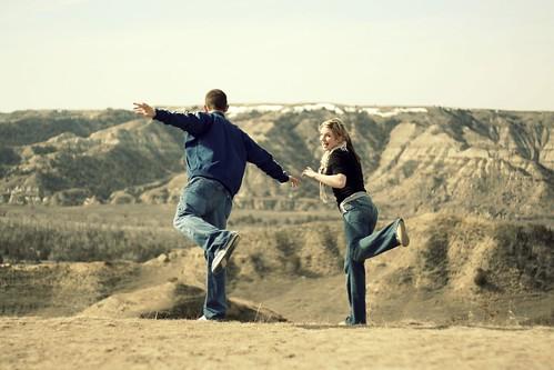 Jumping off cliffs.