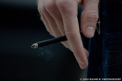 APG - Ryan's Cig (explore) (BlazinBajan) Tags: atlanta black ga ryan cigarette smoke fingers explore cig esp mbp apg djarum explored elliottstreetpub atlantaphotographersguild apg032409 majorbphotography