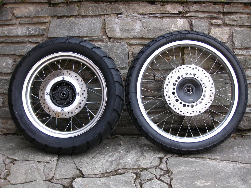 my new Michelin Anakee motorcycle tires