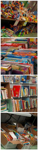 Toys, games, and books