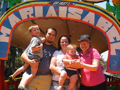 Our family and Lynn at Xochimilco