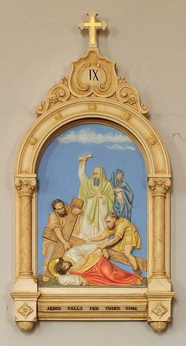 Saint Joseph Church, in Meppen, Illinois, USA - Ninth Station of the Cross, Jesus Falls the Third Time