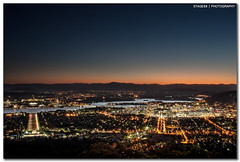 Canberra From Top Of Mount Ainslie (Sam Ili) Tags: light sunset sky lake canon australia mount national canberra griffin dri hdr act burley ainslie lucisart lucis explored 450d redbubble canon24105mm4
