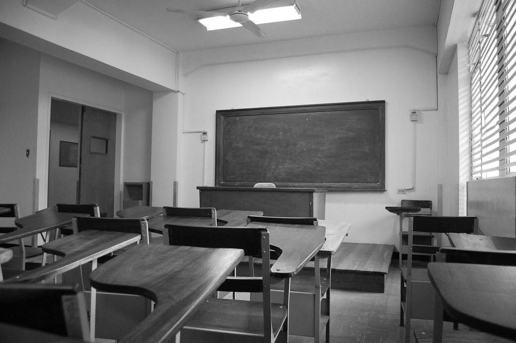 aula blanco negro