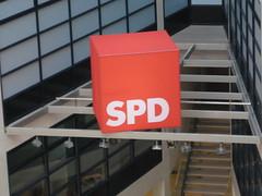Willy-Brandt-Haus: SPD-Würfel im Inneren