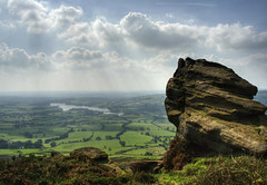 England: Peak District, Lake View (Tim Blessed) Tags: uk sky nature clouds landscapes countryside scenery rocks peakdistrict lakes moor singlerawtonemapped