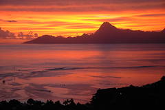 Sunset over Moorea
