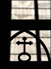 cross (sulamith.sallmann) Tags: church silhouette religious frankreich cross symbol religion kirche belief kreuz holy believe symbole heilig rodez kirchlich scherenschnitt glaube schattenriss religis sakral co0 averon sulamithsallmann