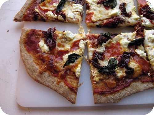 Salami & Goat Cheese Pizza