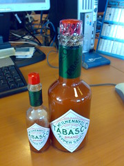 Giant Tabasco unboxed