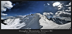 Douglas Mountain, Terrace BC (stephenmdensmore) Tags: winter sky snow mountains clouds nikon terrace hdr d300