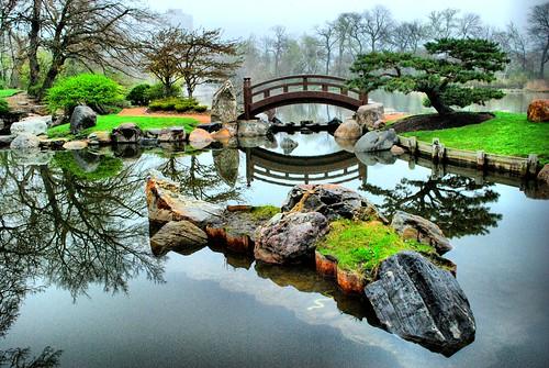 Moon Bridge, Osaka Garden - a photo on Flickriver