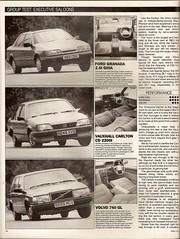 Executive Saloons Group Test 1985 Granada, 740 & Carlton 3 (Trigger's Retro Road Tests!) Tags: test ford volvo carlton cd group granada executive 1985 ghia vauxhall gl 740 saloons 20i 2200i