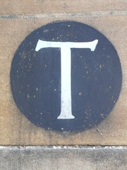 Sign for the T stairs in Pembroke College