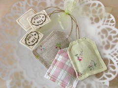 Lavender Teabags (PatchworkPottery) Tags: tea handmade sewing crafts lavender fabric teabag sachets zakka