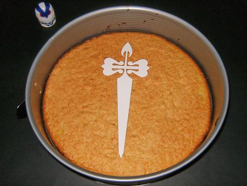 Tarta de Santiago-poner plantilla