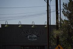 Sanbusco Center Sign (The Real Santa Fe) Tags: santafe shopping sanbuscocenter