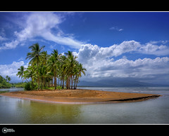 Biasong, Southern Leyte :: Explore (rev_adan) Tags: trip travel blue sea sky seascape tree green water clouds canon landscape island eos tour coconut hiking philippines palm fave explore southern shore leisure cave islet 2pm revo leyte bythesea hinunangan 40d colorphotoaward biasong