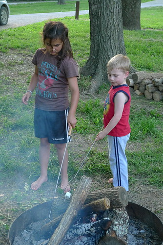 "Cody & Eli ""marshing"" marshmallows"