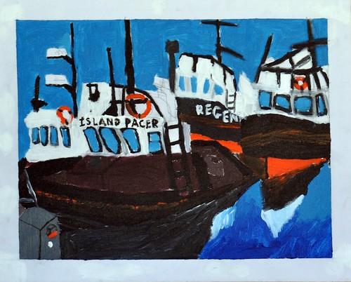 K's tug painting