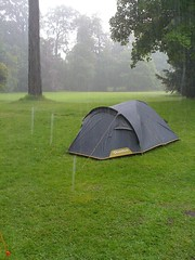 Guide camp in the torrential rain
