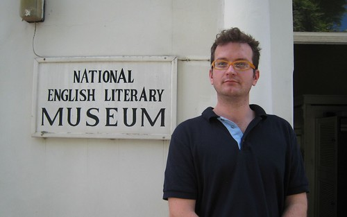 Kai outside South Africa's National English Literary Museum