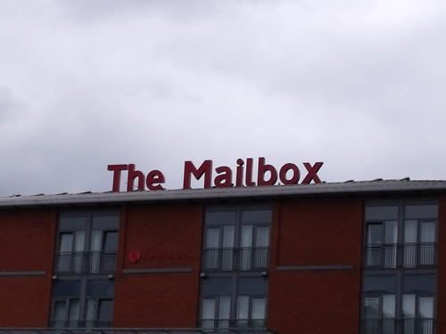The Mailbox sign from the Gas Street Basin