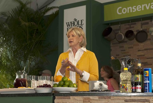 Martha Stewart making cocktails
