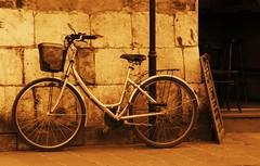Waiting (MyszEK.) Tags: street bike bicycle wall sepia lumix cafe pavement poland polska krakow panasonic explore krakw cracow oldtown amateurs rower artisticphotography twop krakoff polishculture sepialovers beginnersdigitalphotography dmcfz50 mikoajska myszek fotopolonia fotografki fotocyfer spiritsepia rowerywkrakowie sepiascenes bicycleinkrakow ewakulon wdkacafe cyklofotografia2010