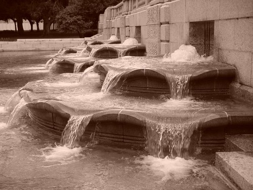 Fountain at the Union Station Plaza...