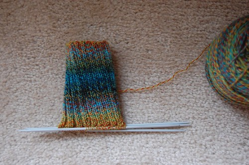 WIP: 2x2 ribbed sock