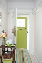 Green Front door (decorology) Tags: wallpaper green notebook au entryway greenroom greenpaint dominomagazine modernretro greendecor earthpalettes