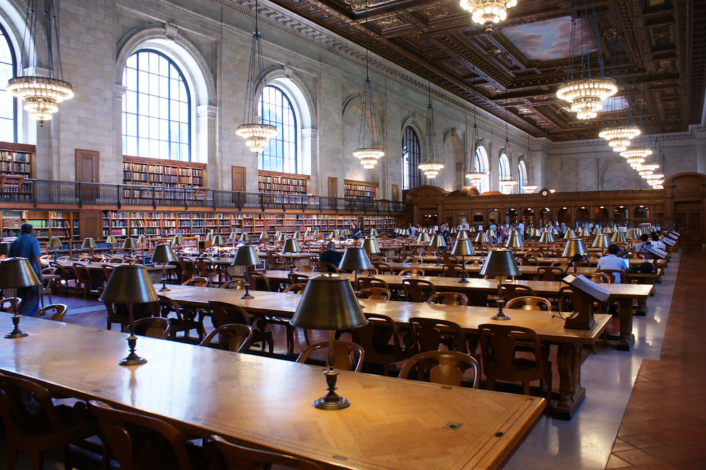 NYC Library reading room