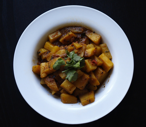 ... -in Law's Potatoes with Fenugreek seeds & Coconut (Methi batata