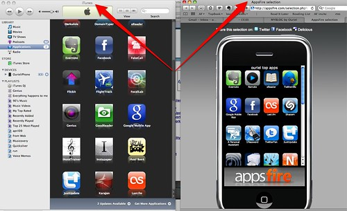 My Apps on iTunes available for Sharing via Safari (soon on iPhone) by you.