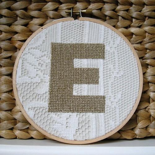 Lace Letter E