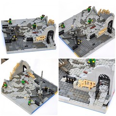 OpB Destroyed building W/courtyard flak WIP (The Ranger of Awesomeness) Tags: lego wwii opb brickcon brickarms foitsop operationbricklord