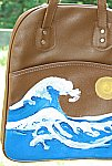 Ocean Waves Hand Painted Leather Purse