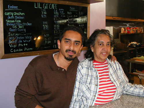 Li'l GT Cafe - Navendra and Aunt Pauline