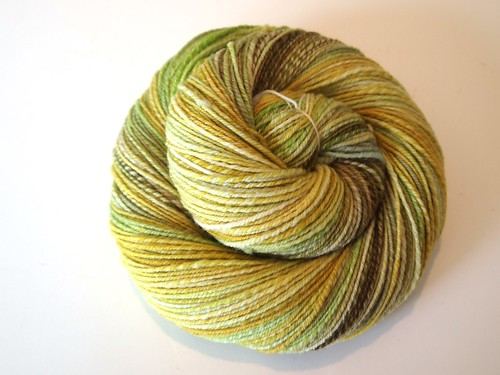HY-Fiber Club April 2011-4oz Targhee wool top-Sprout-chain plied-312yds