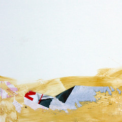 Shallow grave (daliborlev) Tags: abstract texture paper square sand desert glue urbandecay brno mundanedetail tornbillboard