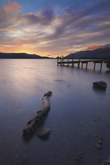 Derwent Jetty, Lake District National Park (Pete Clark Landscape) Tags: park england lake english water canon photography log cloudy district jetty derwent famous national ii lee clark pete 5d filters lakeland mk skiddaw