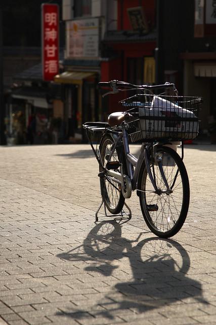 古めかしい自転車