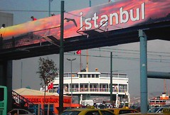 Istanbul (Nisham Says Hi) Tags: street travel bridge vacation holiday colour ferry turkey tin asia europe day 5 istanbul mosque terminal adventure ferries bazar turkish bosphorus denizi acil mamara nisham kadicoy