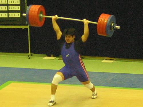 【2003全日本】 岩崎宇信選手、ジャーク223kgを惜しくも失敗