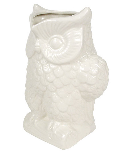 mod white owl drink pitcher