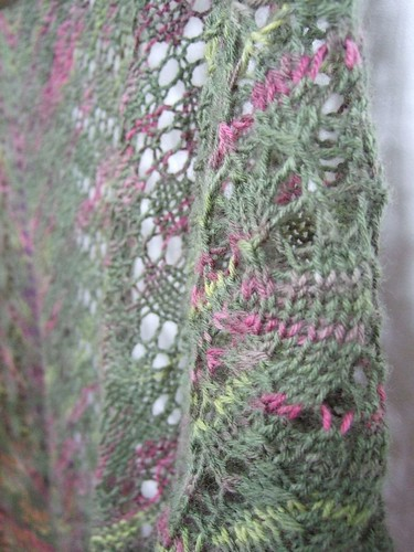 Swallowtail Shawl by Shelley - detail