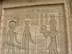 Hieroglyphics from the Temple of Hathor (Robstours) Tags: cruise egypt nile temples aswan luxor hieroglyphics cleopatra hathor dendera