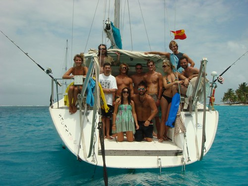 The crew on the boat trip from Cartagena, Colombia to Panama...