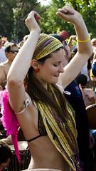 Dance (frame.switch) Tags: party men austin dance costume women texas dancing birthdayparty celebration hippie drumming eeyore crowds rhythm peasepark drummingcircle
